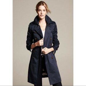 Banana Republic M Navy blue Trench Jacket Rain